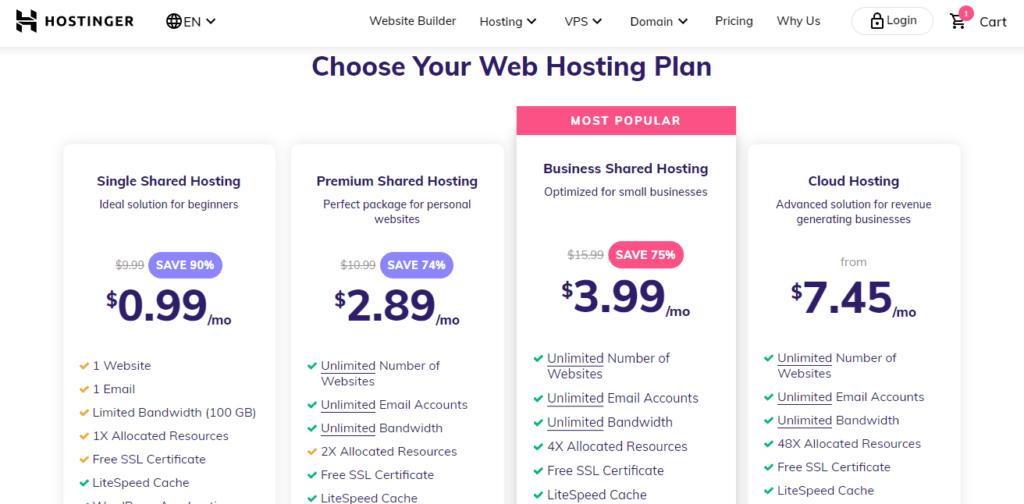 Best Web Hosting Hostinger review